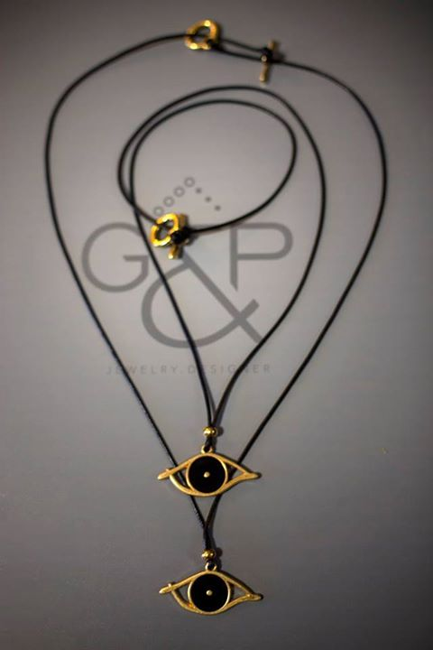 Necklace Gold Eye (Mens & Womens)