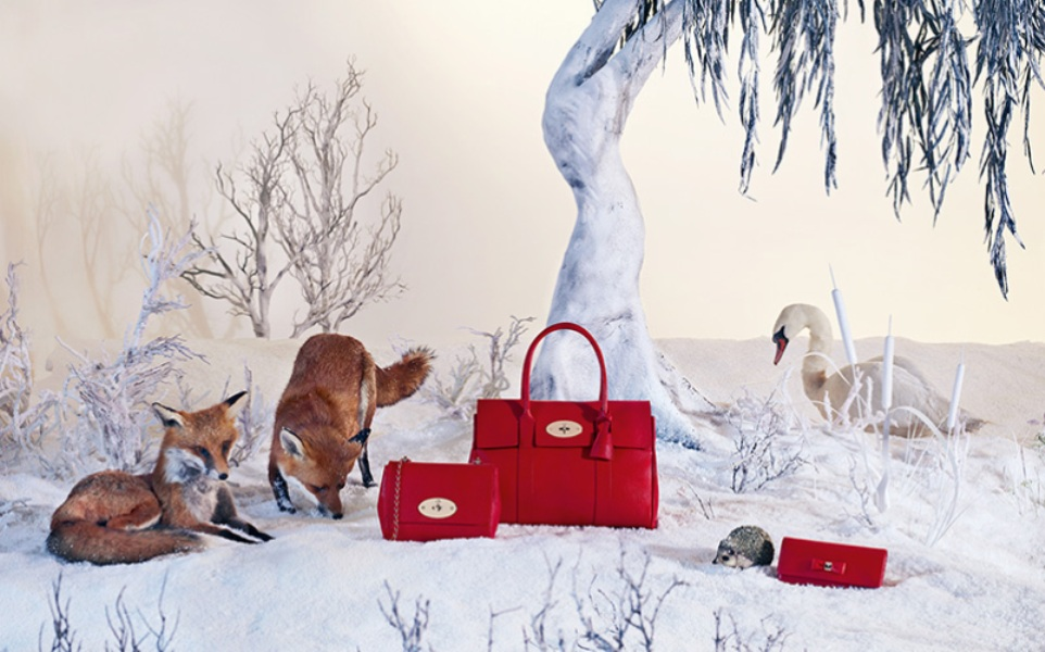 χριστουγεννιάτικη διαφήμιση Mulberry
