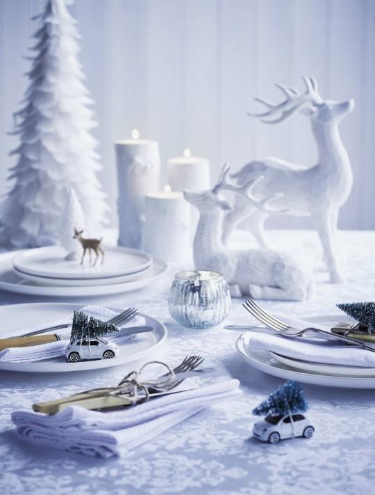 ντεκόρ χριστουγεννιάτικου τραπεζιού